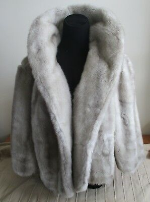 vintage French Tissavel faux fur jacket fully lined with original labels 10-12