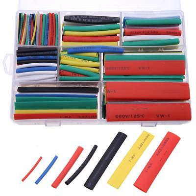 385pcs 7 Colors 9 Sizes Insulation Assorted 2:1 Heat Shrink Tubing Wrap Sleeve