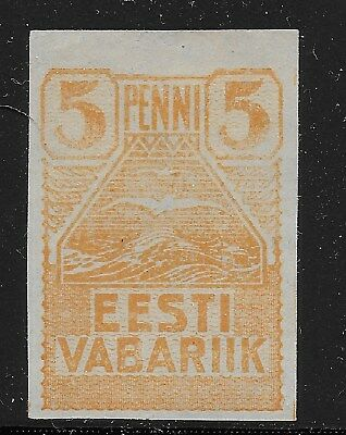 Estonia Scott #27, Single 1919 Complete Set FVF MH