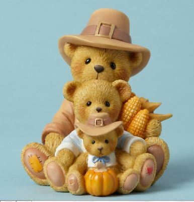 Cherished Teddies A Bountiful Harvest Best Shared Thanksgiving Figurine 4053448