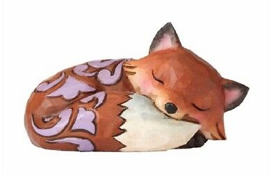 Jim Shore Heartwood Creek Animal Miniature Sleeping Fox Figurine 4055058 New
