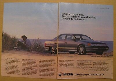1986 Mercury Sable 4-Door Sedan 2-pages Color AD