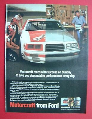1986 Motorcraft Quality Parts Color AD