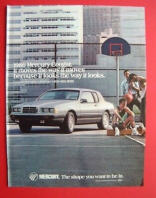 1986 Mercury Cougar Color AD