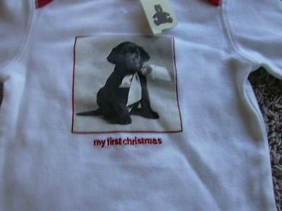 NEW Baby Gap First Christmas 0-3 3 Months Top T Shirt Labrador Dog 2006 NWT