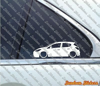 2x Lowered Stickers Auto Aufkleber For Opel Corsa E 5 Door 2015