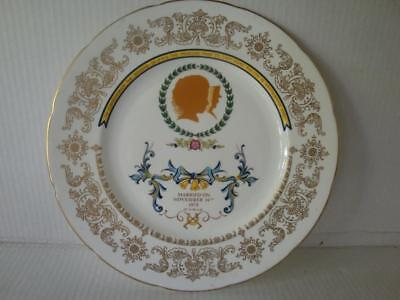 CROWN STAFFORDSHIRE ROYAL WEDDING PLATE PRINESS ANNE AND MARK PHILIPS NOV 14th