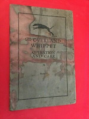 "x. c.1920s Overland ""Whippet"" Car Owner's Operation & Care Manual"