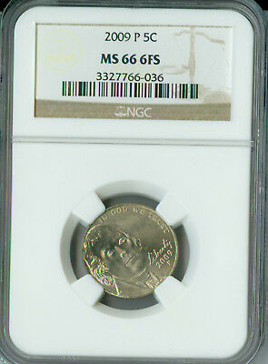 2009-P Jefferson Nickel Ngc Ms66 Fs Business Strike Only 1 Finer Rare *