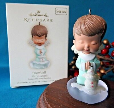 Hallmark Ornament 2007 Mary's Angels Snowball Snowman #20 in the Series