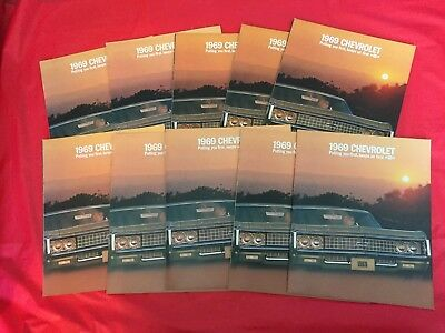 "LOT 10---1969 Chevrolet ""Caprice Biscayne Impala Bel-Air"" Car Dealer Brochures"