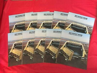"LOT 10---1969 Chevrolet ""Station Wagons"" Car Dealer Sales Brochures"