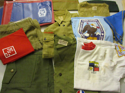 Boy Scouts of America Clothing Uniform Vintage Lot Patch Shirt Pant BSA 70s 80s