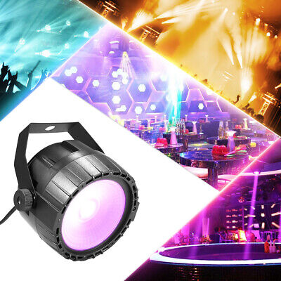 30W RGB UV COB LED Par Light Remote Control DMX-512 Stage Lights for Show Party