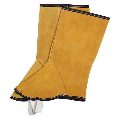 Split Leather Welding Spats Shoes Flame Resistant Welder Foot Protect Cover.AU