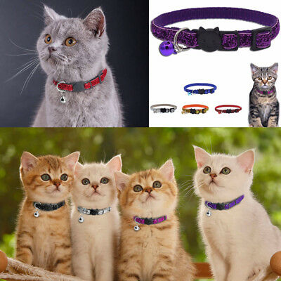 Quick Release Nylon Cat Collar Personalized With Bell Neck Strap for Cat Kitten