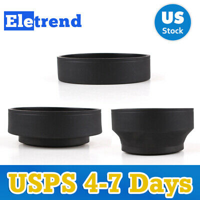 3-in-1 77mm 77 mm Collapsible Rubber Lens Hood For Nikon Canon Sony Mamiya 645