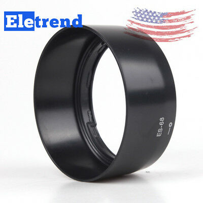 ES-68 Bayonet Black Mount Lens Hood For Canon EF 50mm f/1.8 STM Lens NEW US SHIP