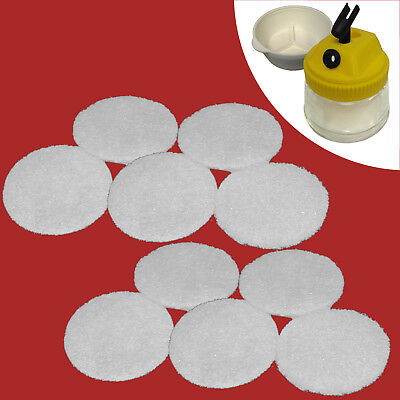 10 x Replacement Filters for airbrush-reinigungsbehäter clean-pot bd-777