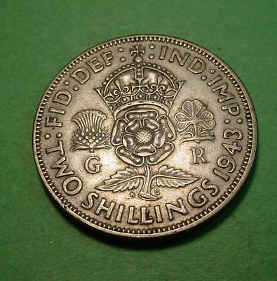 1943 Great Britain Florin - Lot# 97 - Nice Details - Silver