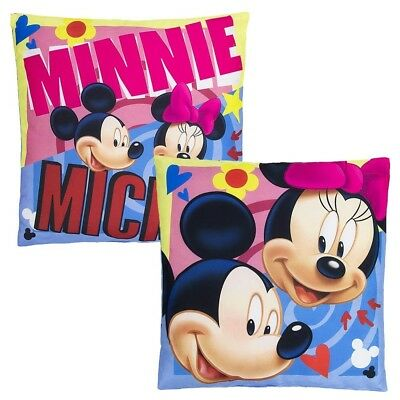 Mickey & Minnie | Almohada 40x40 cm | Disney Mickey Mouse | Niños Cojín