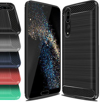 For Huawei P30 Case Brushed Bumper Shockproof Armor Slim Cover For P20 Pro  Lite