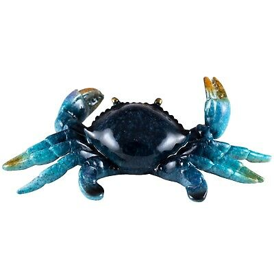 """Blue Crab Ornament Figurine Resin 5.25"""" Long New In Box!"""