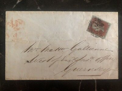 1851 England West Insurance Co cover To Guernsey Channel Islands