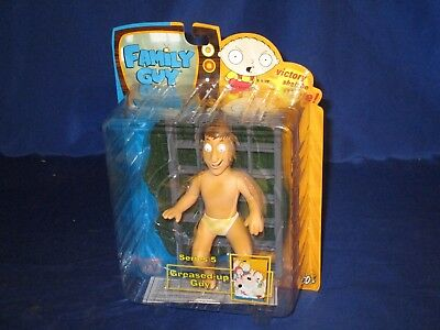 """Family Guy Series 5 Greased-Up Guy 6"""" Action Figure Mezco 2006 Still Sealed"""