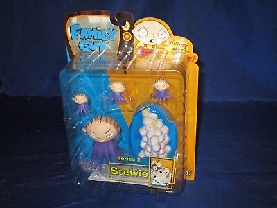 """Family Guy Series 2 Mutant Stewie 3"""" Water Squirting Eggbase Mezco 2005 Sealed"""