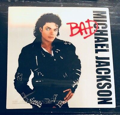 """MICHAEL JACKSON """"Bad"""" STICKER **Free Shipping** licensed official 4"""" decal"""