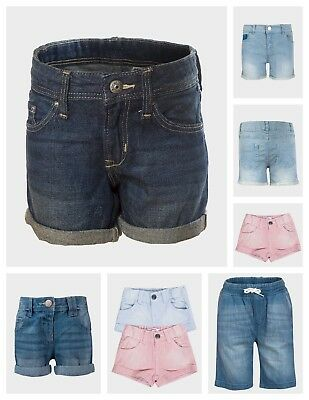 Girls Blue Pink Cotton Or Denim Jeans Shorts Age 2 3 4 5 6 7 8 9 10 11 12 13 14