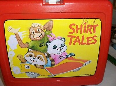 Shirt Tales,1981`Going Places,Hallmark,Thermos Brand Plastic Lunchbox->Free 2US