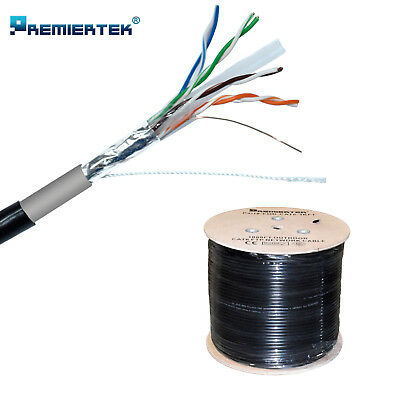 CAT6 1000FT Shielded  Outdoor 23 AWG 550 Cable FTP Wire Solid Direct Burial UV