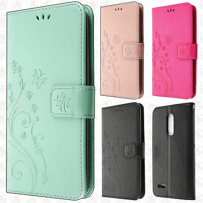 FOR LG PREMIER Pro LTE Premium Butterfly Leather Wallet