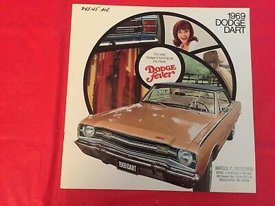 "1969 Dodge ""Dart"" Car Dealer Sales Brochure"