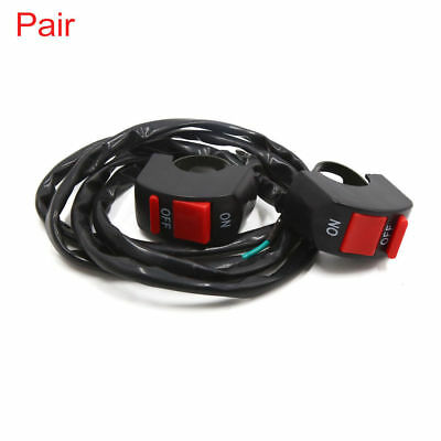 """2pcs Universal Motorcycle Scooter 7/8"""" Handlebar Kill Stop ON-OFF Button Switch"""