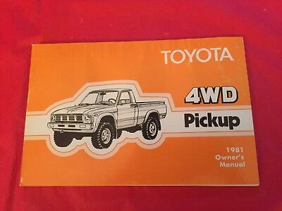 "k. 1981 Toyota ""4WD Pickup"" Truck Owner's Manual"