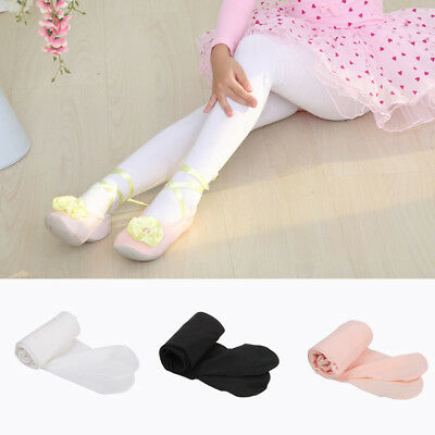 100 Denier Ballet Tights Girls Kids Children Dancing Footed 3-14 Ages UK Stock