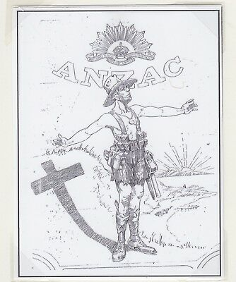 AUSTRALIA  1936 Unadopted ANZAC Design Stamp on Card