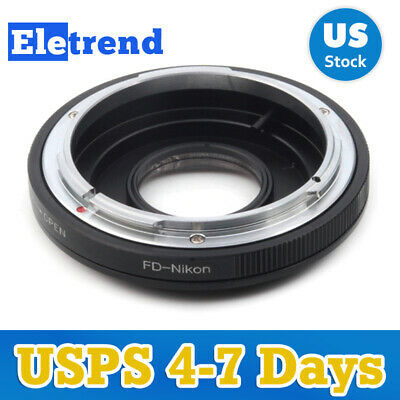 Focus InfinityLens Adapter Suit For Canon FD Lens to Nikon Camera US FAST SHIP