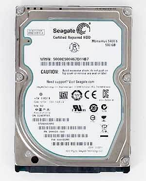 "Seagate Momentus 5400.6 500GB (ST9500325AS) 2.5"" SATA (RECERTIFIED, 1 Jahr G"