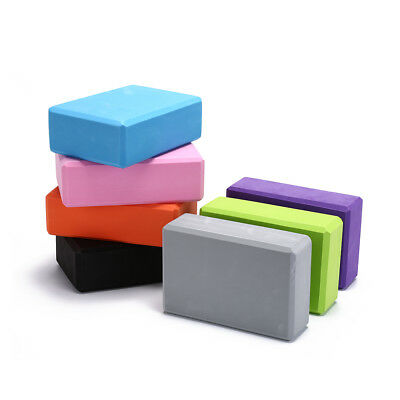 yoga block exercise fitness sport props foam brick stretching aid pilates M&