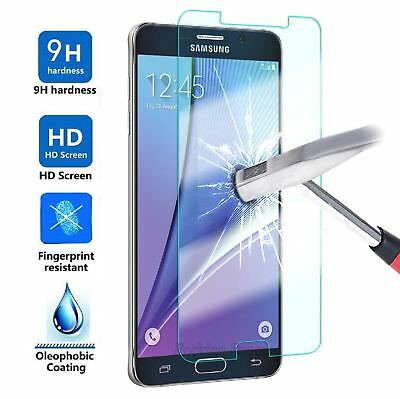 2x Samsung Galaxy J7 2017 Shockproof Tempered Glass Screen Protector Bubble Free