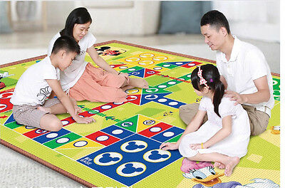 large baby kids play mat & flying chess double side disney pooh & mickey blanket