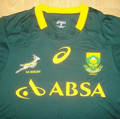 BNWT XXL South Africa Springboks Rugby Union Supporters T-Shirt Asics