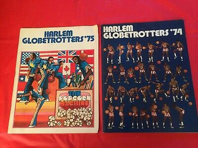 LOT 2 Harlem Globetrotters Basketball Yearbooks Meadowlark Lemon-Curly Neal