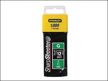 Stanley Tools TRA7 Heavy-Duty Staple 12mm TRA708T Pack 1000 STA1TRA708T