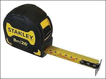 Stanley Tools Grip Pocket Tape 8m/26ft (Width 28mm) STA033569