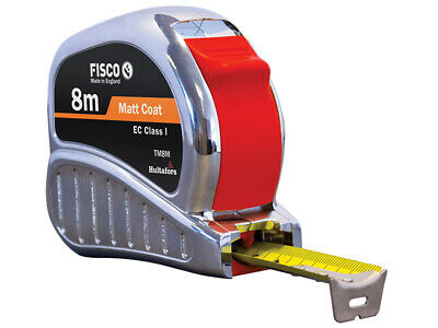 Fisco TMC8M Chrome Tri-Matic Pocket Tape 8m (Width 25mm) (Metric only) FSCTMC8M